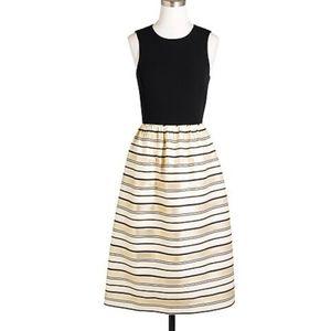 J. Crew Gold Stripe Dress